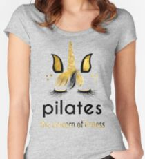 Pilates The Unicorn of Fitness Fitted Scoop T-Shirt