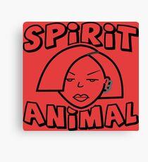 Jane Lane SPIRIT ANIMAL BLACK Canvas Print