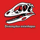 Fearsome Deinonychus Skull by David Orr