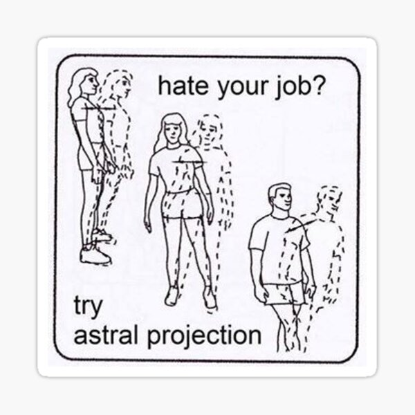 Essayez Astral Projection !!! Sticker