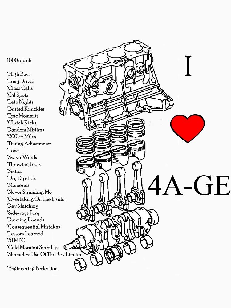 4A-GE Love | Unisex T-Shirt