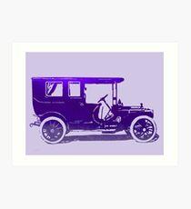 1909 Packard Limousine Violet Pop Art Print