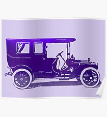1909 Packard Limousine Violet Pop Poster