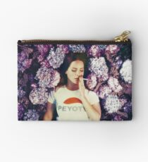 Lana Laying in Flowers Studio Pouch