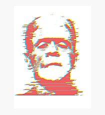 Retro Frankenstein Glitch Remix — Type B Photographic Print