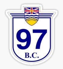 BC Hwy97 Okanagan Highway, Cariboo Highway, John Hart Highway, Alaska Highway | Highway Shield Sign Sticker