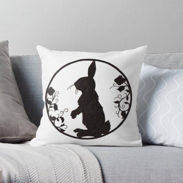 Rabbit Silhoutte Throw Pillow