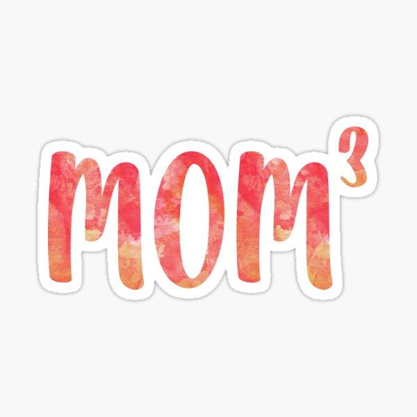 Mom Cubed  Sticker