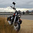 Motorbike in St Kilda by Xavier Russo