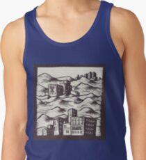 Cities in Rolling Hills - Relief Print Men's Tank Top
