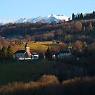 Village Church - Béarn France by Alison Cornford-Matheson
