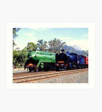 Steam Locomotives Art Print
