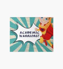 Academic Warriors logo Art Board