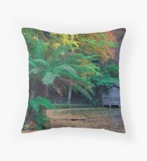 Boatshed, Alfred Nicholas Gardens Throw Pillow