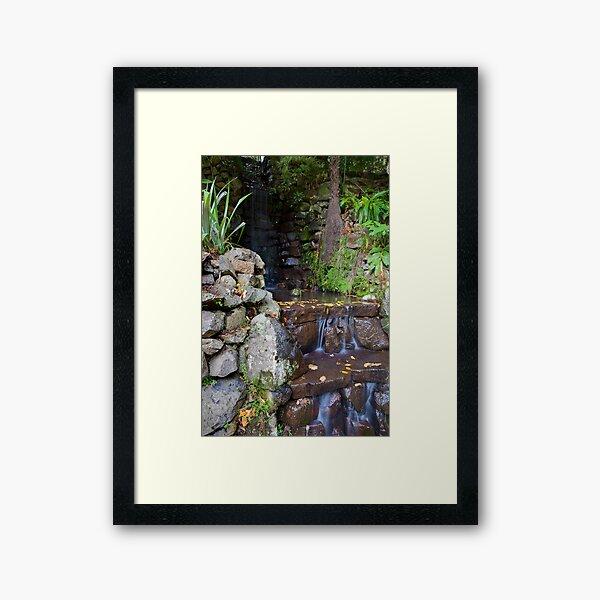 Waterfall at Alfred Nicholas Gardens Framed Art Print