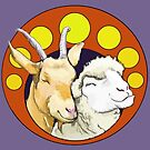 Sheep and Goat Friends by sneercampaign