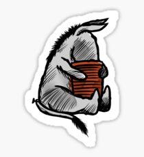 WINNIE THE POOH - Eeyore & Honey Pot  Sticker