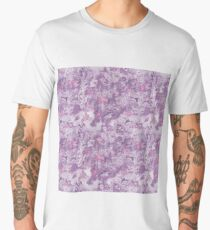 Pink and Mint Marble Pattern Men's Premium T-Shirt
