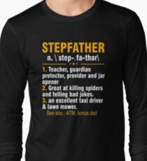 Step Father Definition Shirt For Father's Day From Kids. Long Sleeve T-Shirt