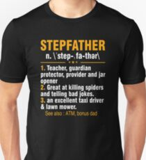 Step Father Definition Shirt For Father's Day From Kids. Unisex T-Shirt