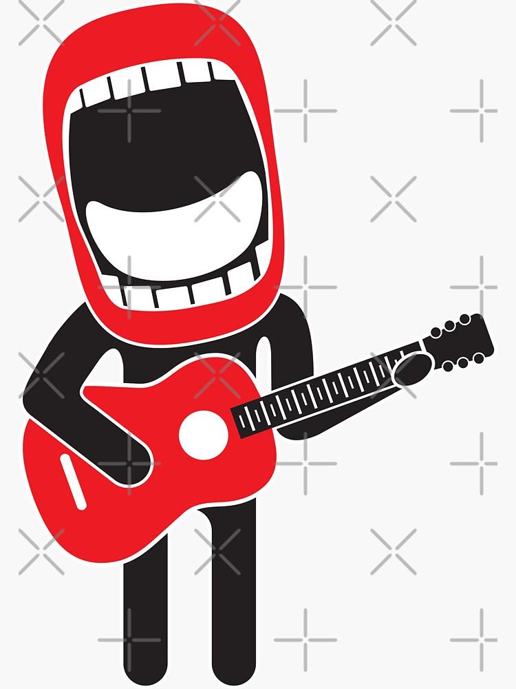 loud singing guitarist  by kislev