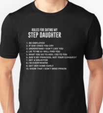 Father's Day Shirt For Step Dad From Step Daughter. Unisex T-Shirt
