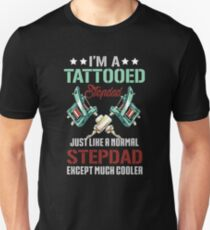 Father's Day Tee For Tattooed Step Dad From Son/Daughter. Unisex T-Shirt