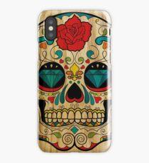 Wood Sugar Skull iPhone Case
