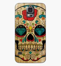 Wood Sugar Skull Case/Skin for Samsung Galaxy
