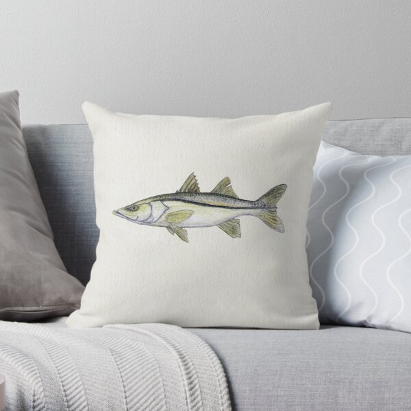 """Snook"" by Amber Marine ~ watercolor fish art, © 2013 Throw Pillow"