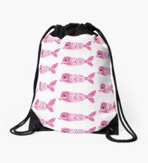 Salmonbae Breast Cancer Awareness Drawstring Bag