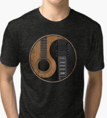 Yin Yang Guitar Tri-blend T-Shirt