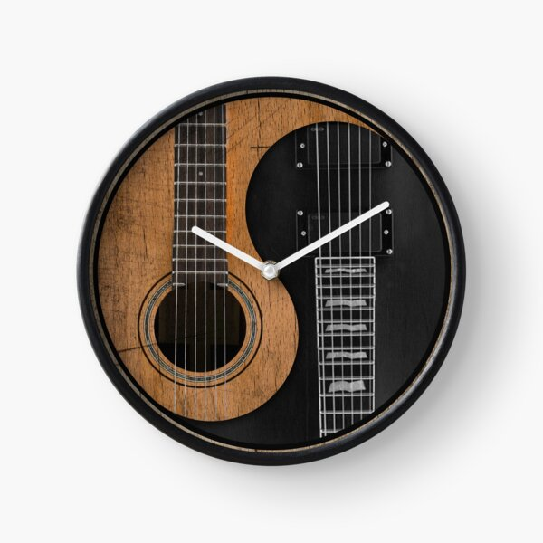 Yin Yang Guitar Clock