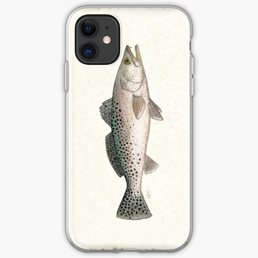 """Spotted Seatrout"" by Amber Marine ~ watercolor fish art, © 2013 iPhone Soft Case"