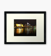 Ipswich Customs House and Docks at Night Framed Print