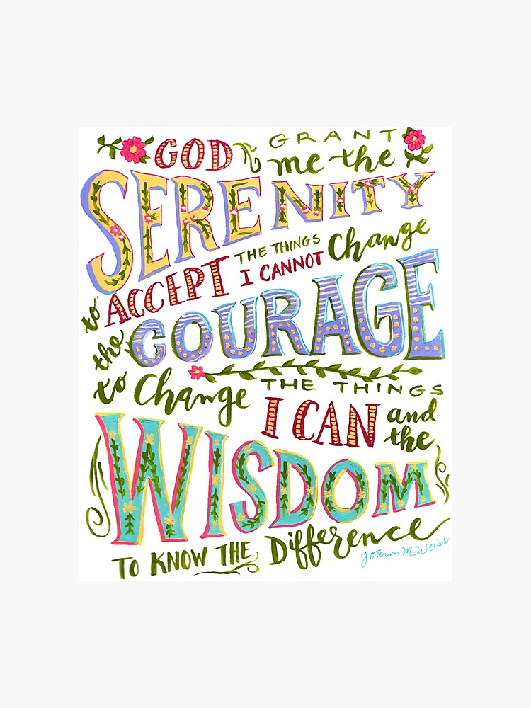 photograph regarding Serenity Prayer Printable identify Serenity Prayer Hand Lettered Photographic Print