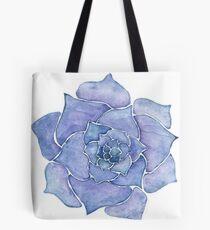 Lila Aquarell Sukkulent Tote Bag