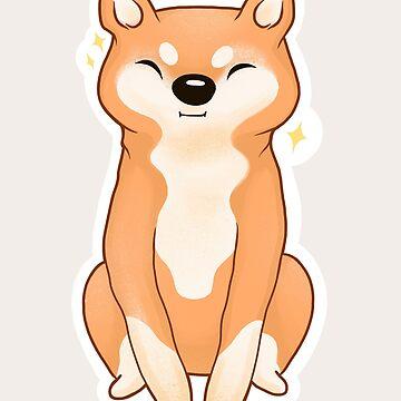 Happiest Cutest Shiba Inu Cream Background by nykiway