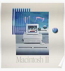 Macintosh II Vaporwave Poster