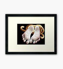 bounding ankle Framed Print