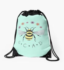 Art the Bee from Savannah College of Art and Design Drawstring Bag