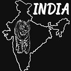 India Country Map And Benegal Tiger by lo-qua-t