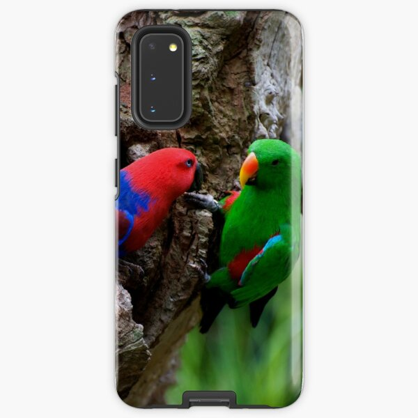 Pair Of Eclectus At The Nest Samsung Galaxy Tough Case