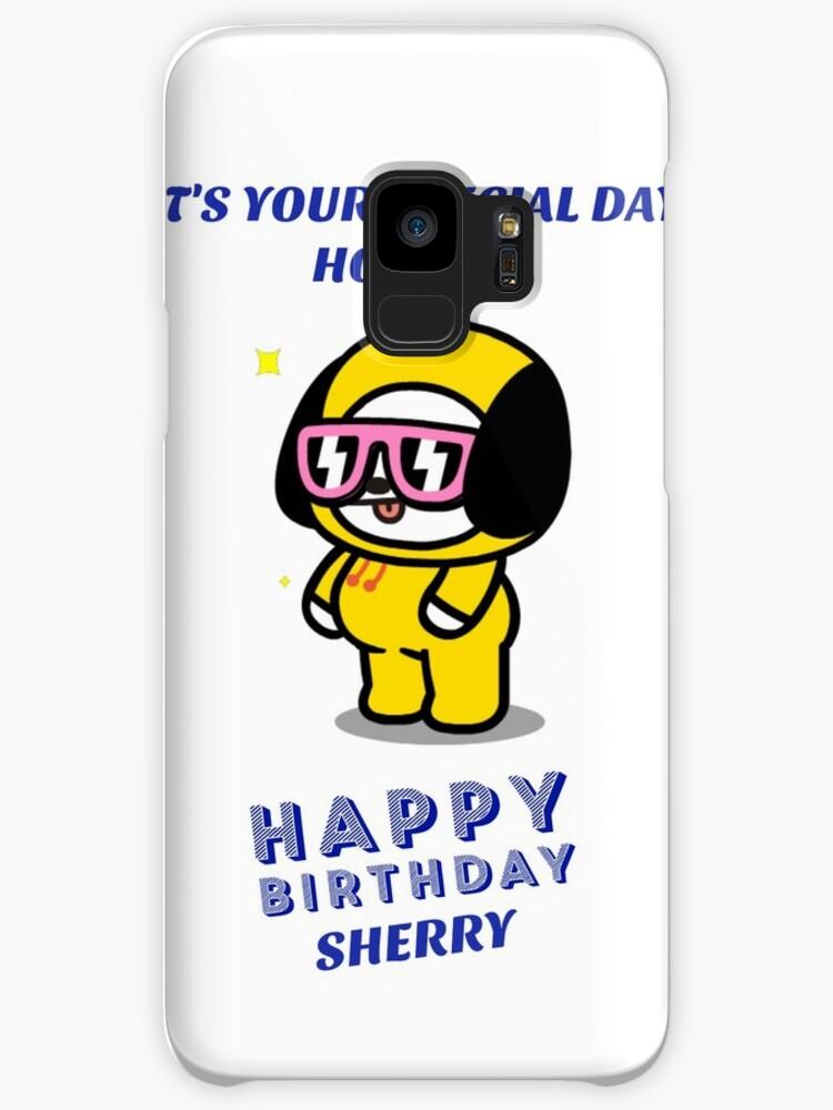Chimmy Bday Card Case Skin For Samsung Galaxy By Kpopmemetrash