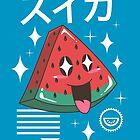 Kawaii Watermelon by vincenttrinidad