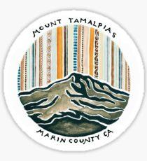 Mount Tam Sticker Sticker
