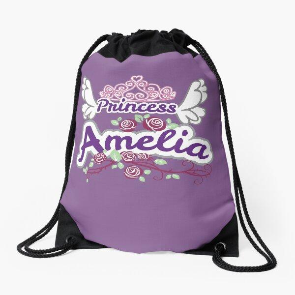 Princess Amelia - Personalized Girls Name Gift, Kids Princess Name Products Drawstring Bag