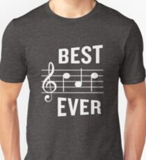 Best Dad Ever Funny Music Note Father's Gift Unisex T-Shirt