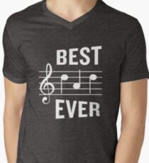 Best Dad Ever Funny Music Note Father's Gift Men's V-Neck T-Shirt