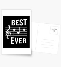 Best Dad Ever Funny Music Note Father's Gift Postcards